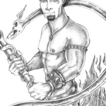 dragonman-bw