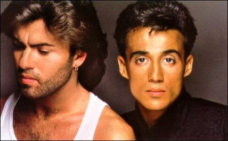 Wham! George Michael and Andrew Ridgeley Photo by Tony McGee
