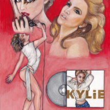 kylie minogue pencil drawing