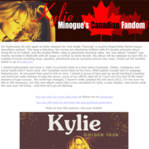 kylie minogue website